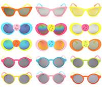 2016 nuevos niños encantadores Gafas de sol redondas Protección de moda al aire libre que juegan los vidrios Salidas Escalada Gafas acampa DHL libre K132L