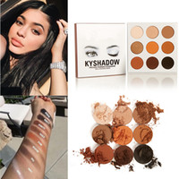 Wholesale KYLIE Kyshadow Pressed Powder Eyeshadow Cosmetics Bronze Palette colors Kylie lip kit popular By DHL
