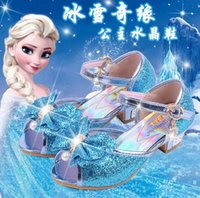 Wholesale 2016 new dream girl child sandals heels shoes explosion models bow genuine girls SHOES