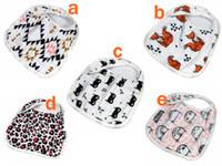baby soft bib - miracle Baby styles new Bibs INS Cotton soft bibs Cartoon Animal fox batman Muslin Anais baby Burp cloths layers Feeding bibs
