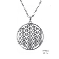 Wholesale Myshape Wiccan Jewelry Myth Love Knot Flower of Life Egyptian Style Simple Necklace Jewelry Gift for Man Woman