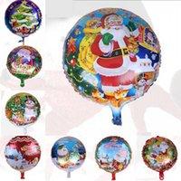 aluminium tree - 50pcs inch Christmas Balloons Santa Claus Snowman Christmas Tree Pattern Birthday Party Festive Gift Supplies Decorations