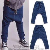 baggy jeans kids - 2016 New Autumn Winter Kids Nununu Jeans Denim Baggy Pants Harem Pant For Boys Girls Baby Bobo choses Toddlers Cotton