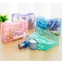 bath business - Fashion Travel Transparent Waterproof Cosmetic Bag Wash Bag Floral Wash Bath Toiletries Pouch Large capacity colors