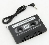 Wholesale 500PCS HHA126 mm Universal Car Audio Cassette Adapter Audio Stereo Cassette Tape Adapter for MP3 Player Phone BLACK car dvd