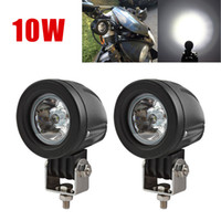 Wholesale 2pcs W Waterproof Auto Led Offroad Lights Fog Lamp Headlight for Car Motorcycle Boat Truck ATV CLT_40O