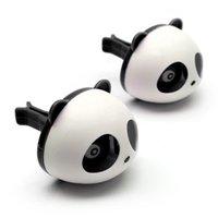 Wholesale Car Styling Air Freshener Set Car Air Conditioning Vent Perfume Panda Eyes Will Jump Colors Parfume HA10660