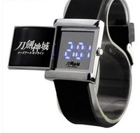 arts silicone watch - New Fashion Digital Led Slide Table Sports Anime Cosplay Sword Art Online watch Silicone strap