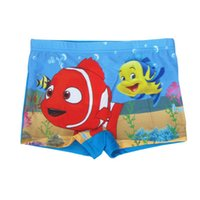 Wholesale Finding Nemo Dory Cute Cartoon Pattern Clownfish Boys Swimming Trunks Swimming Pants Shorts Swimwear