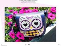 animal crossing cards - Vintage Rivet Owl Print Mini Shoulder Bags For Women Small PU Leather Cute Messenger Crossbody Phone Purse Card Bags Girl Ladies ZA0084