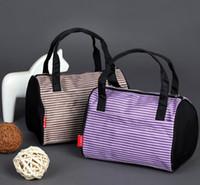 2016 Nouveau Style Coréen Boston Forme sacs Purple Fashion Causal bleu toile seau d'embrayage Sacs à main Portefeuille