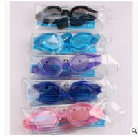 Wholesale High quality Antifog waterproof UV swimming mirror swimming glasses goggles adult men and women with a pair of Ear Plugs