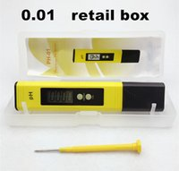 Wholesale PH Meter Tester automatic calibration Portable Digital LCD Pen Monitor Gauge with retail box