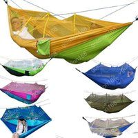 Wholesale 2016 Camping Hammock with Mosquito Net Travel Jungle Person Patio Bed Swing Outdoor tent