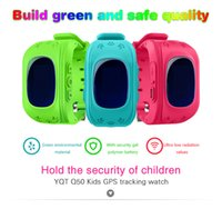 Wholesale DHL Q50 GPS Tracker Watch For Kids SOS Emergency Anti Lost Bracelet Wristband Two Way Communication Smart Phone App Wearable Devices OLED