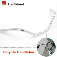 bend aluminum bar - All Silver Color Mirror Swallow Shaped Handlebar mm WidthTricycle Bike Frame Part Extension Bent Bar Tape Motorcycle Stem