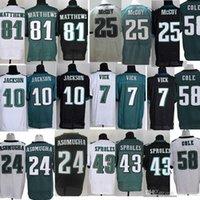 Wholesale Hot Sale Philadelphia football jersey Eagles Soccer rugby jerseys Vick Cole Jackson Black Green White Mix Order