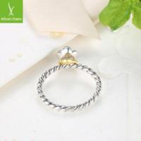 925 anillos de la flor de la plata esterlina compatibles con el regalo de la joyería europea apta original de Pandora de compromiso anillo de la marca S925