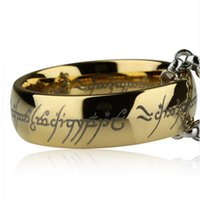 Wholesale Europe and K gold plated titanium stainless steel Supreme Lord of the Rings Lord of the Rings movie factory jewelry trade rings