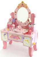 Wholesale Baby Toys Strawberry Mother Garden Classic Simulation Dressing Table Girls Birthday Gift Princess Baby Toys Wooden Toy