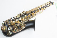 Wholesale Alto Saxophone with Matte Black Body Gold Lacquer Surface Brass Material Eb Tone and Can be Customized