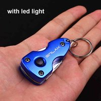 Wholesale 7 in Portable Multi Function with led light Folding Pocket Tools Plier Knife Keychain Screwdriver