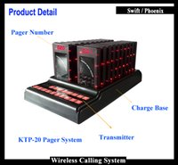 Wholesale 2016 New Fast Food Equipment Queue Wireless Calling System KTP With Pc Pager Transmitter And Coaster Pager