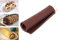 bake sale cookies - Hot Sale Flexible Soft Cake Stencils Roll Silicone Pan Pastry Bakeware Kitchen Cookie Bake Mold Sheet Pad Accessories
