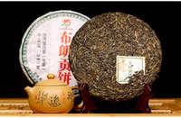 al por mayor chino pastel de té verde-Bulan Montaña Pu'er Raw Té de la famosa marca Longyuanhao-380g Sheng Cha / Verde Cake té chino perder peso PP-023 al por mayor