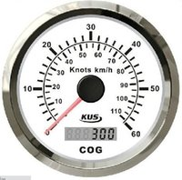 Wholesale 100 Brand New mm GPS Speed Chart Speedometer Sea Mile Knots For Boat Yacht With Light White