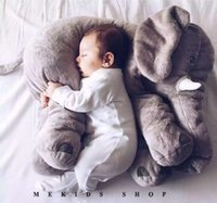animal pillow blanket - best selling Fashion Baby Animal Elephant Pillow Feeding Cushion Children Room Bedding Decoration Kids Plush Toys Children s blanket G123