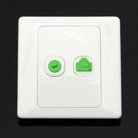 aerial sockets - New Arrival Best Price Electric RJ45 Network TV Aerial Socket Wall Mount Coaxial Outlet Plate Panel Super Quality