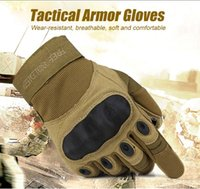 armor soldier - FREE SOLDIER outdoor Riding hiking climbing training tactical gloves men s gloves armor protection shell Cycling Gloves