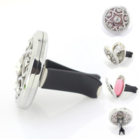 american cars - 38mm Magnetic Stainless Steel Car Aroma Perfume Locket With Crystal Essential Oil Car Diffuser Lockets