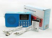 Wholesale Portable L B FM AM Radio Speaker Player LED flashlight Support TF micro SD card USD Flash Drive AUX