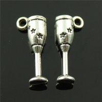 antique silver goblets - 100pcs mm colors antique bronze antique silver plated d Goblet charms