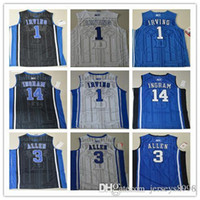 Rugby allen jerseys - Duke Brandon Ingram Blue Garyson Allen Devils Kyrie Irving Game Elite V Round Neck Stitched Throwback Blue Jersey