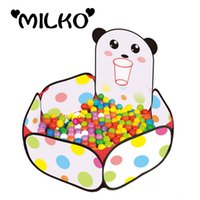 Wholesale Kids Cute Panda Play Tents Safety Toy House Tents Baby Playpens Indoor Stress Ocean Ball Pool Ballenbak Yard Tents for Children