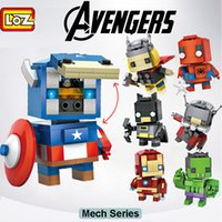 ant toy - LOZ Avengers Building Blocks toys mini Small particle blocks Captain America Iron Man Batman Thor Cyclops Hulk Ant Man Spider Man kids gifts