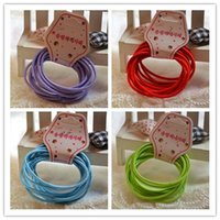 Wholesale 10sets Fashion Candy Colors Simple Style Elastic Holder Headbands Baby Girls Hair Ties Children s Hair Accessories