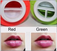 apple beauty - DHL Apple Shaped Sexy Lip Plumper Tool Red Or Green Lip Plumper Lips Beauty Lip Tool Plump Suction Enhancer Device