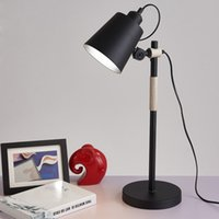 ac project room - Modern Study Room Table Lamp Art Brief Wood Metal Desk Lamp Living Room Office Lamp Project Table Lamp