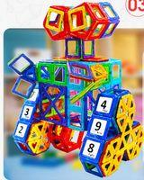 Wholesale 64 Set Magnetic Designer Creator DIY Building Blocks Plastic Assemble Enlighten Bricks Variety Of Tablets Educational Toys For Children