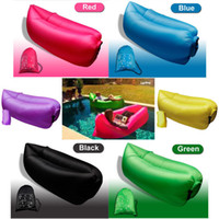 Wholesale Inflatable Sleep Bag Colors Fast Infaltable Sleeping Bag Seconds Quick Open Lazy sofa Sleeping Bed Folding Sofa Beach Sleep Bed