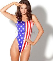 american flag swimwear - Women USA Flag Bikini American Flag Star Stripe Bikini Fashion Swimwear Sexy Swimsuit One Piece Beachwear US Flag Swimwears Bikinis B333