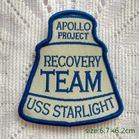 apollo patches - Apollo Project Recovery Team USS Starlight Badge Sew On Patch Shirt Trousers Vest Coat Skirt Bag Kids Gift Baby Decoration