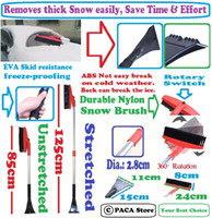 Wholesale cm Retractable Rotation Snow Brush With Ice Scraper Garden Snow Plough Shovel Tool removes easily thick ice