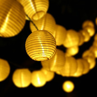 Wholesale 6M LED Outdoor Lighting Lantern Ball Solar String Lights Fairy Globe Christmas Decorative Solar Lamp for Party Holiday Deco