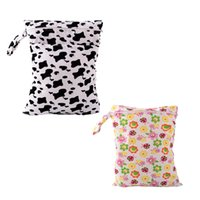 Wholesale Baby Diaper Pouch Waterproof Wet Bag for Pram x39cm Diaper Storage Changing Bag for Wheelchairs Mother Baby Bags for Baby