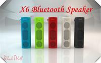 audio options - X6 Bluetooth Wireless Portable Speaker X6 sport outdoor bluetooth speaker multi colored radio function options for iPhone iPod iPad Samsung